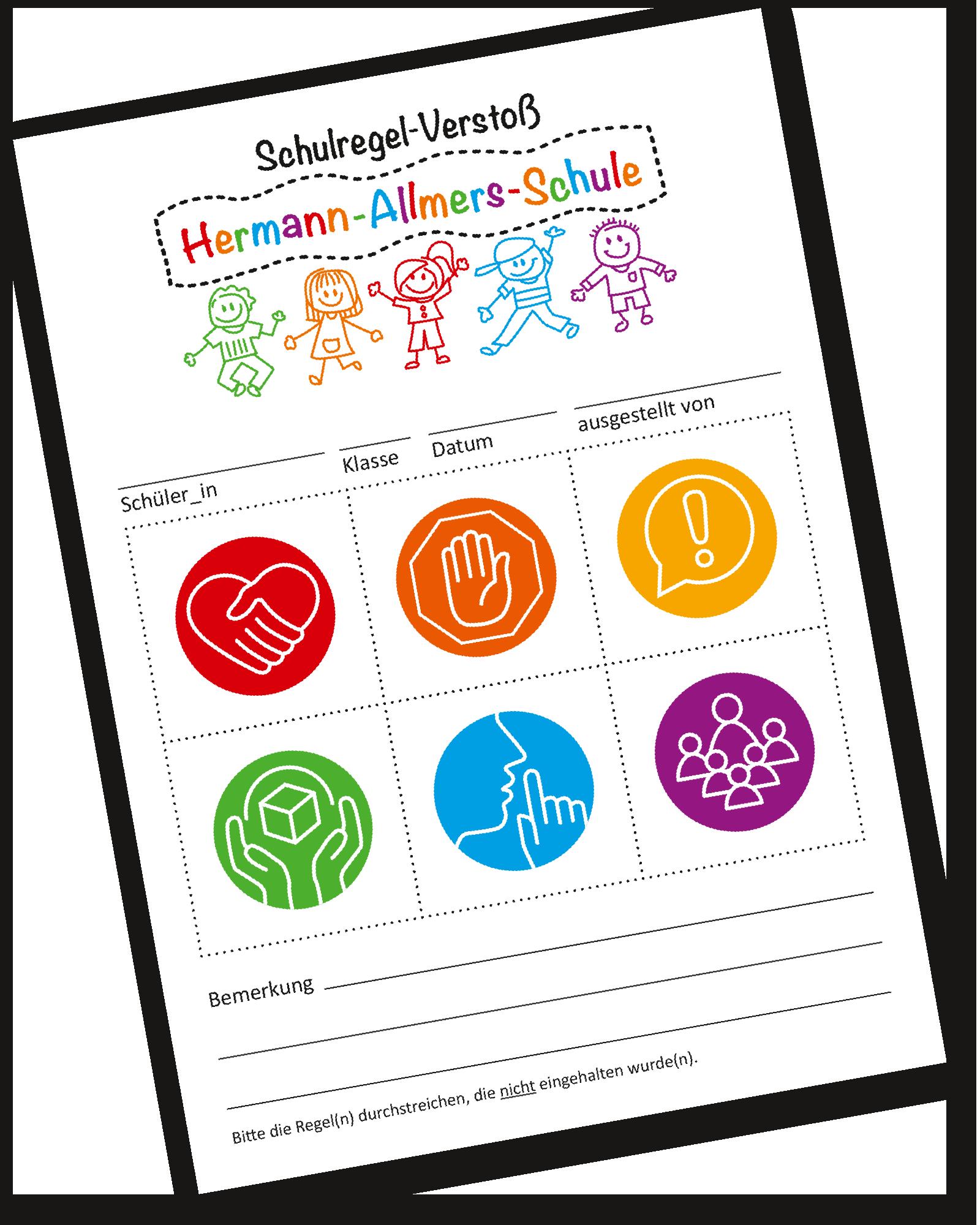 Schulregeln_Ticket_HermannAllmersSchule